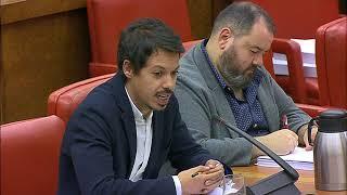 Segundo González en la Comisión de Presupuestos el 17 de mayo