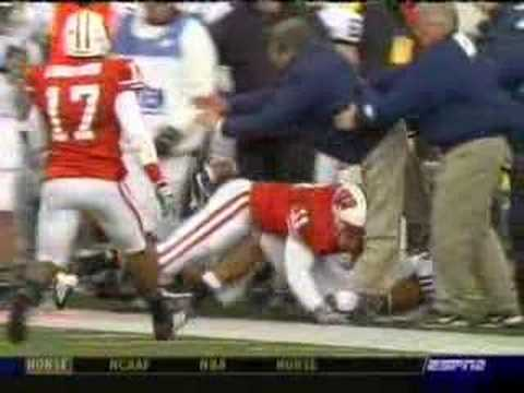 Joe Paterno Gets TACKLED and BREAKS his leg!