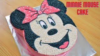 Minnie Mouse Cake  How To Make A Minnie Mouse Cake  Easy Cake  Manjaris Recipe