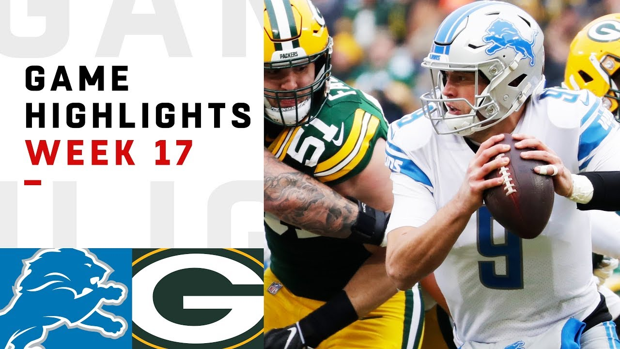 Lions vs. Packers Week 17 Highlights | NFL 2018