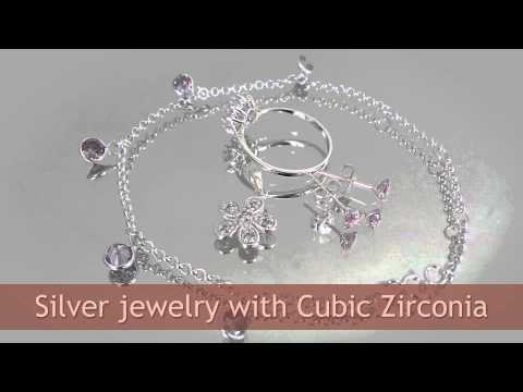 CZ Silver Jewelry Wholesale, Cubic Zirconia Jewellery from Thailand Manufacturer
