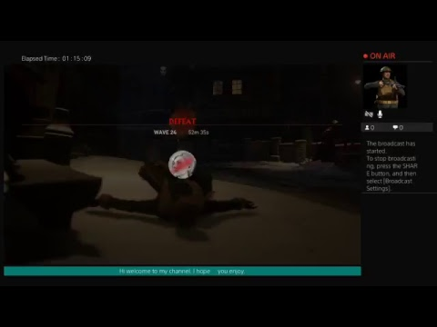 Closestmist110's Live PS4 Broadcasting call of duty WW2 zombies