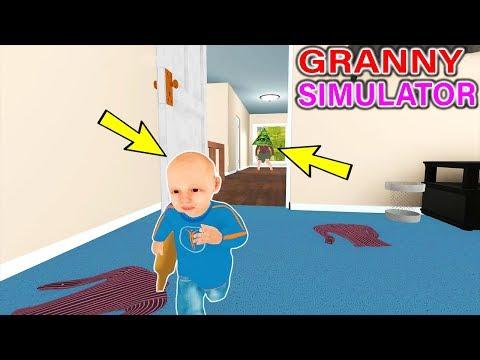 DELİ BÜYÜKANNEDEN KAÇMAYA ÇALIŞIYORUZ! - Granny Simulator