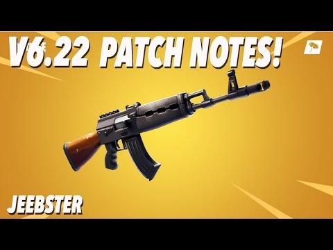V6.22 Patch Notes! (FORTNITE)