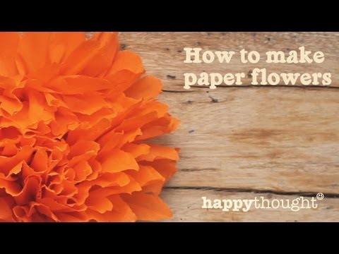 How to make a Mexican paper flower for Day of the Dead