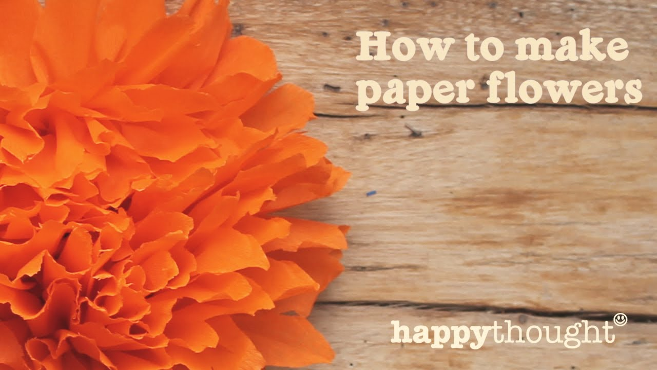 How To Make A Mexican Paper Flower For Day Of The Dead Youtube