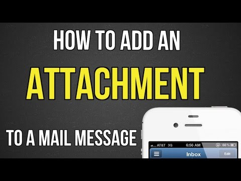 How to add an attachment to email on iphone 6