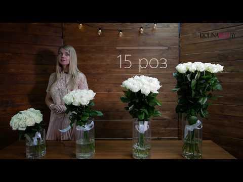 15 белых роз купить в Минске с доставкой