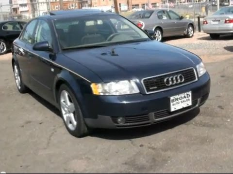 2004 audi a4 1 8t quattro sedan youtube. Black Bedroom Furniture Sets. Home Design Ideas