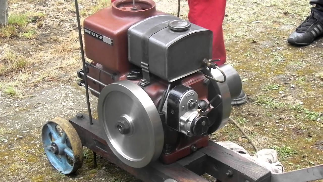 Vintage deutz stationary engine youtube for Deutz motor for sale