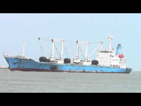 Cargo Ship coming into Songkhla Port, Thailand