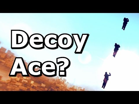 Can you ace with a smoke or decoy?