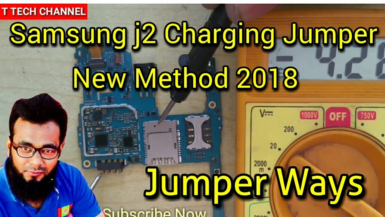 Samsung J2 Charging ic Jamper 2018 solution, HINDI Audio , T-TECH-CHANNEL#70