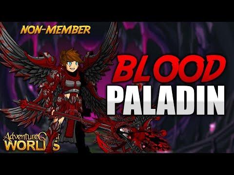 Blood Paladin Free AC Non-Member Set! AQW AdventureQuest Worlds