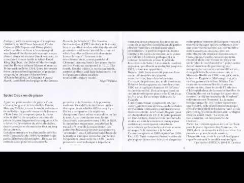Erik Satie-Gnossienne No.3 (Pascal Roge 1983) HD