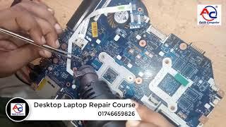 How to repair laptop motherboard no power   laptop repair practical class   Bangla