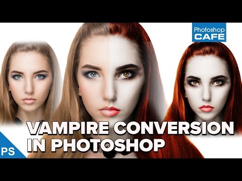 How To TURN A PERSON INTO A VAMPIRE In PHOTOSHOP Tutorial
