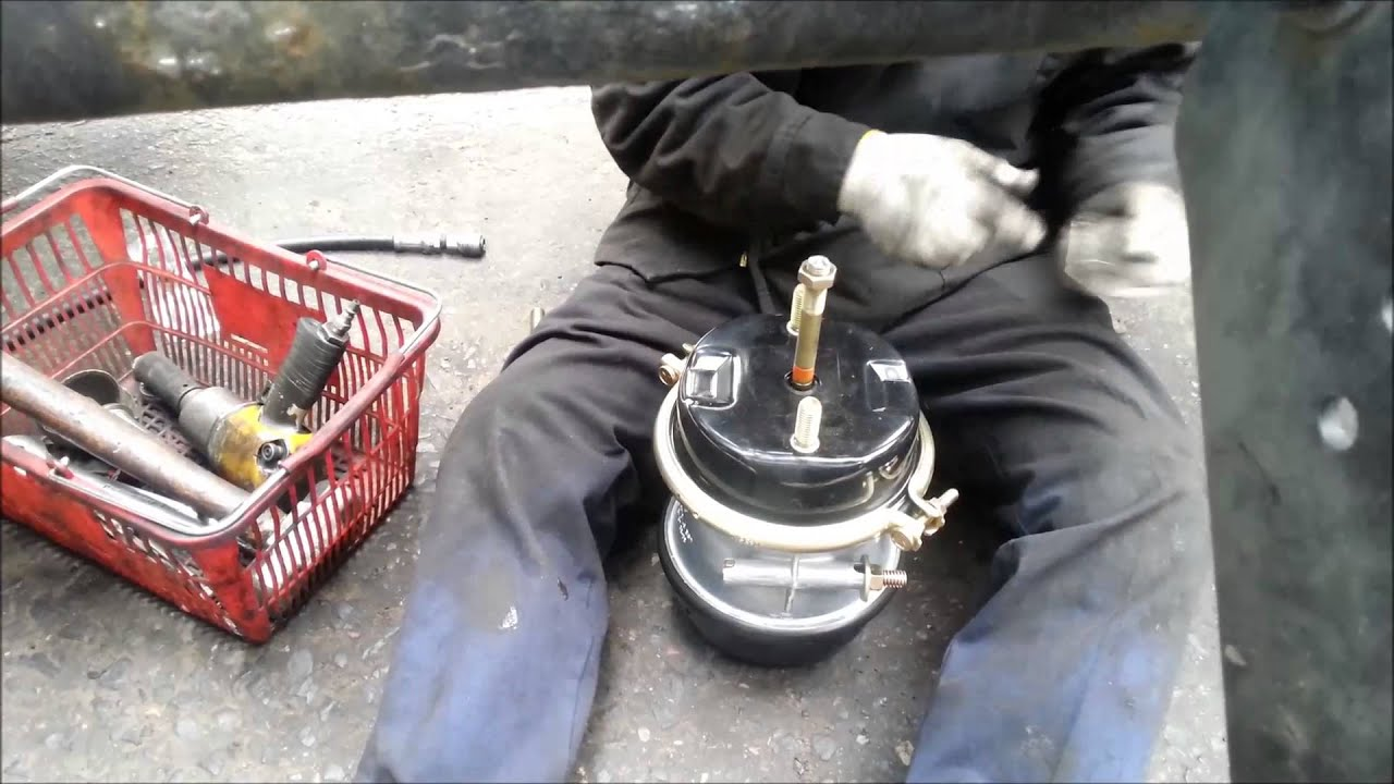 Brake Chamber Replacement : Brake chamber out of service getting it fixed youtube
