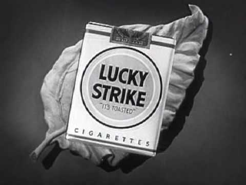 Lucky Strike Cigarette Commercial: Marching Cigarettes (1948)