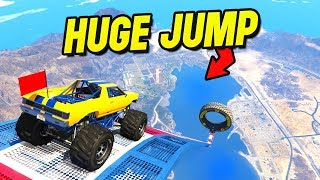 19 MINUTES of DUMB VEHICLES JUMPING the MEGA RAMP - GTA 5 Mods