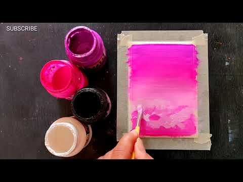 Easy Canvas Painting Ideas for Beginners Step by Step Acrylic Painting #310