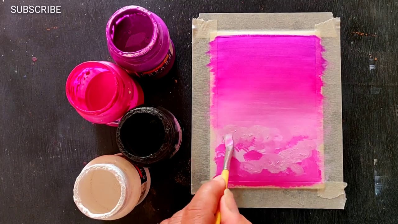 Easy Canvas Painting Ideas For Beginners Step By Step Acrylic Painting 310 Youtube