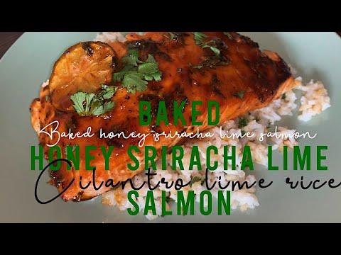 Honey Sriracha Lime BAKED SALMON!!