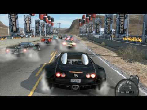 NFS Pro street Bugatti Veyron Nevada speed Run (HD)