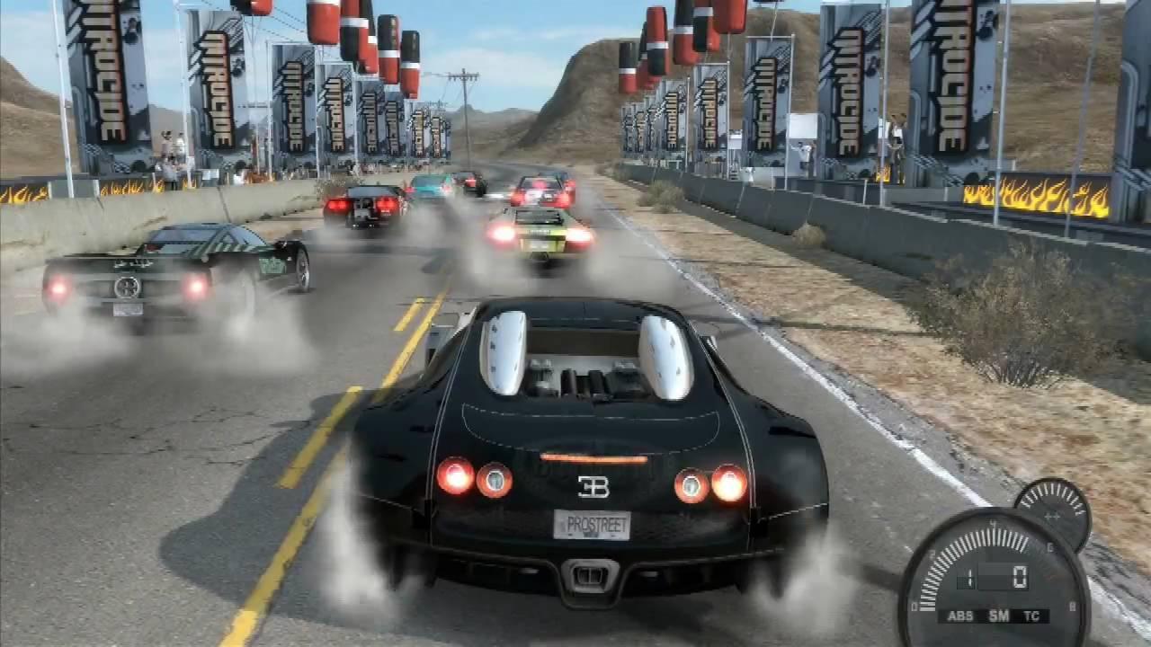Nfs Pro Street Bugatti Veyron Nevada Speed Run (hd)  Youtube