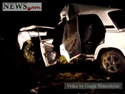 Car Crashed Into Electricity Pole In Armenia, June 3, 2011