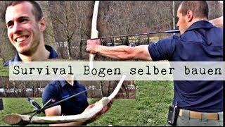 Survival Bogen selber bauen, wie bauen ich einen Bogen für die Jagd? Survival Training (4K)