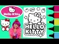 Coloring Hello Kitty Sanrio Coloring Book Page Colored Markers Prismacolor | Kimmi The Clown video