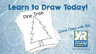 Teaching Kids How to Draw: How to Draw a Pine Tree