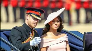 Prince Harry And Meghan Markle Looked Happy At Trooping the Colour