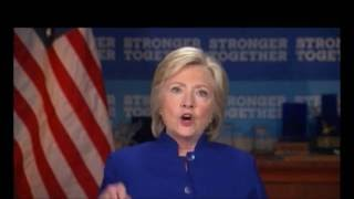 Hillary Clinton strangely shouts entire speech  'Why Aren't I 50 Points Ahead