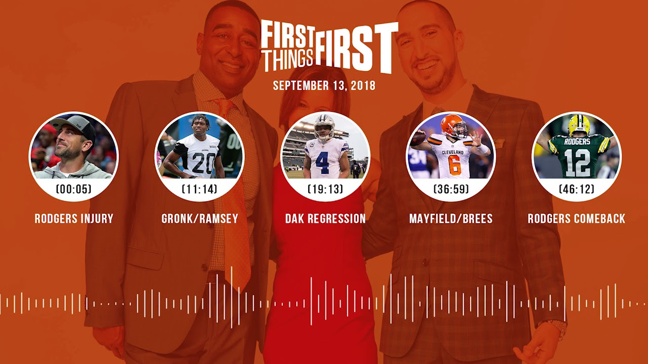 First Things First audio podcast(9.13.18)Cris Carter, Nick Wright, Jenna Wolfe | FIRST THINGS FIRST