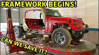 Rebuilding A Wrecked 2020 Jeep Gladiator Rubicon Part 5