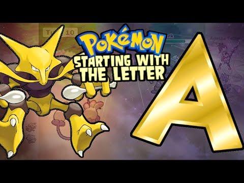 Pokemon Alphabet: Team Starting With