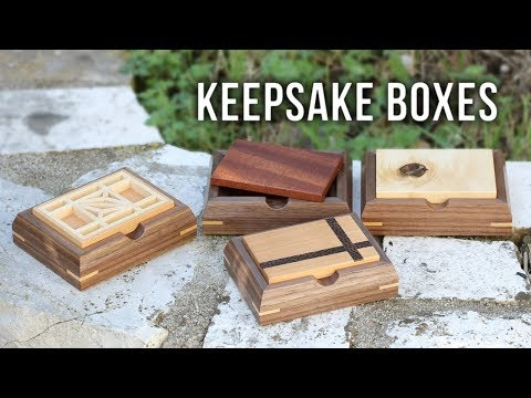 Making Small Keepsake Boxes with Various Lid Designs