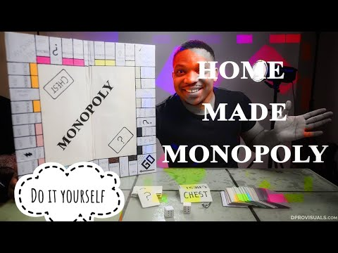 DIY MONOPOLY how to make monopoly board game at home