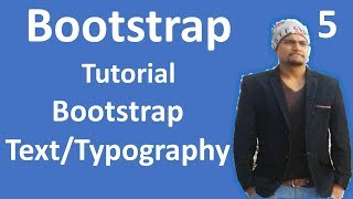 Bootstrap Tutorial for Beginners #5 Text/Typography in Bootstrap