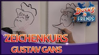 Ducks & Friends - Zeichenkurs: Gustav Gans - DISNEY CHANNEL