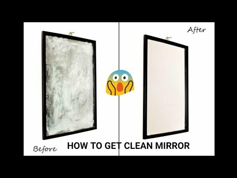 How to get clean and sparkling mirror at home | EASY METHOD | NIVI'S ALL IN ONE