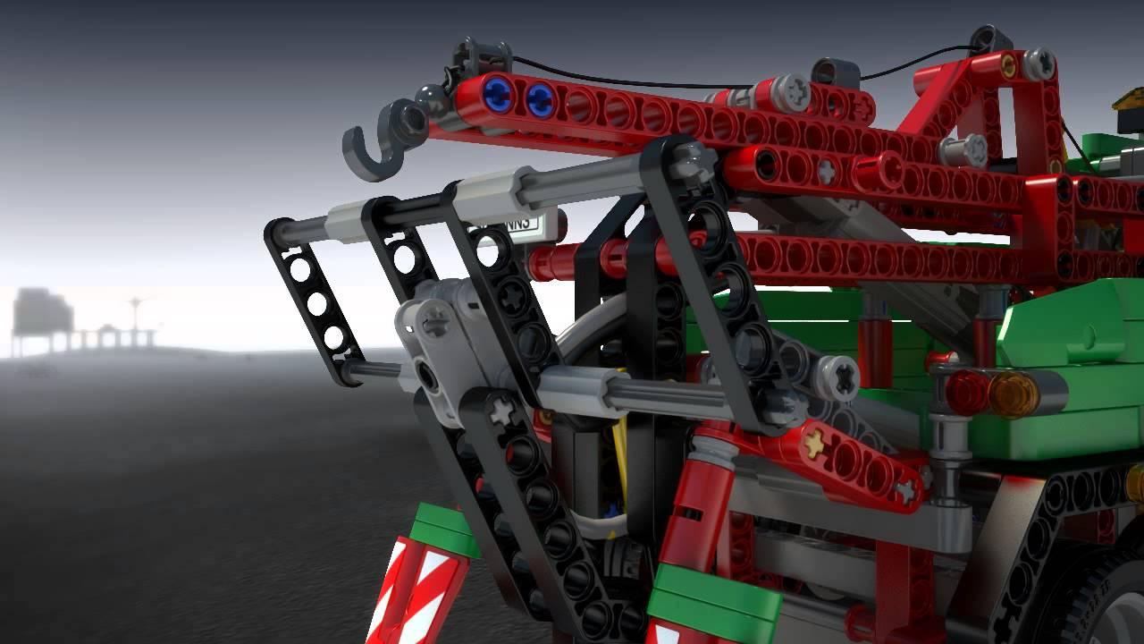 Lego Technic Wóz Techniczny Youtube