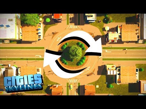 American Tries to Build a City with Only Roundabouts - Cities Skylines Industries! |