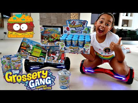 Thumbnail: HOVERBOARD CHALLENGE! New Grossery Gang Putrid Power Gross Surprise Blind Bags & Playsets