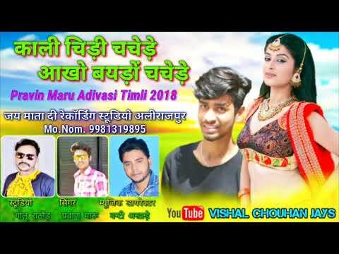 Kali Chidi Chachede    New Mp Adivasi Timli 2018 - Pravin Maru