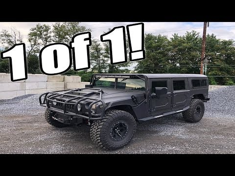 EXTREMELY RARE 750HP LBZ DURAMAX SWAPPED HUMMER H1!!