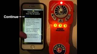 Lionel Universal Remote Firmware Version 1.1