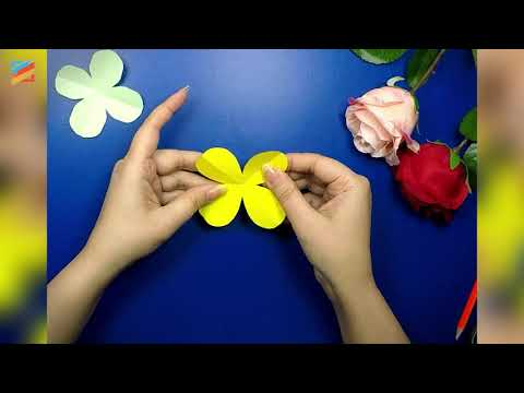 How To Make 4 Petals Flower | DIY Craft Easy Paper Flower | Simple Making Flower | Mehsim Creations